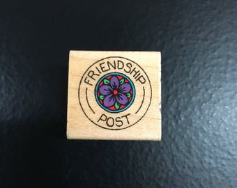 Hero Arts Retired Wooden Rubber Stamp Friendship Post