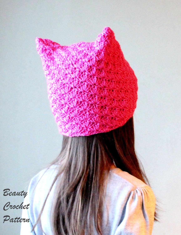 Pussyhat Pattern, Crochet Pussycat Hat Pattern, Pink Pussyhat ...