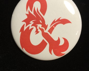 Dungeons & Dragons pin back  Button