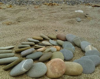 Irish Sea Stone Pebbles , Beach Stones, 10 pieces