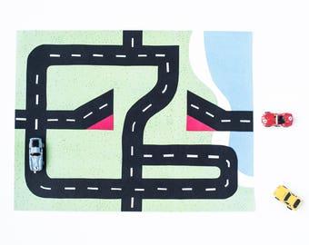 Car Play Mat #2: Ramp and Jump Mat. For Mini Toy Cars.