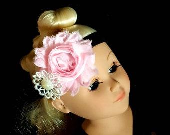 Girls Headbands, Pink Flower headband girl headband,couture headband, Baby girls headband Baby headbands lace headband Hair Bows wedding