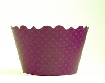 Plum Pudding Purple Cupcake Wrappers - Includes 12