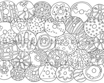 Donuts Coloring pages