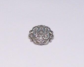 Silver snake BASQUE PATRONYMIQUE brooch