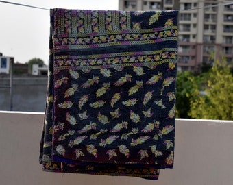 Super special vintage kantha quilt, kantha, blanket, recycled kantha blanket, kantha quilt, indian quilt, handmade gift, new, bedding