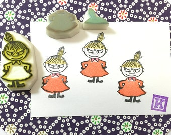 MOOMIN Little My - Hand Carved Rubber Stamps/Anime/Cartoon