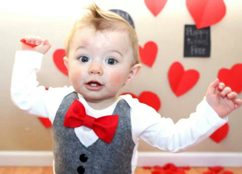 Baby Boy Clothes Baby Bow Tie With Vest First Valentines