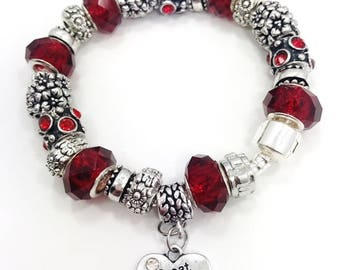 Great Grandma European style charm bracelet