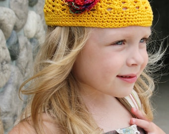 Crochet Boutique Flower Hair and Hat Clips