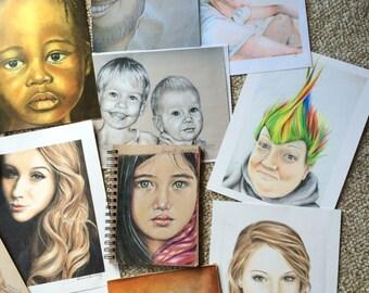 Custom Portrait -colored pencil