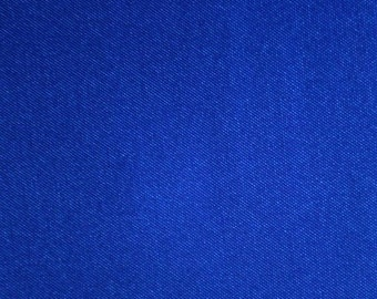 "Royal Blue Polyester Satin Fabric 60"" Wide Per Yard"