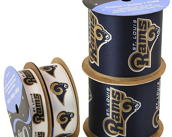 NFL St. Louis Rams, 4-pack of Ribbon, Licensed NFL Offray Ribbon