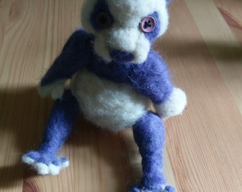 Purple Wool Panda