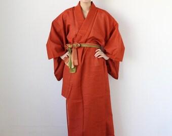 summer kimono, EXCELLENT VINTAGE, Japanese kimono, sheer kimono, beach kimono /3179