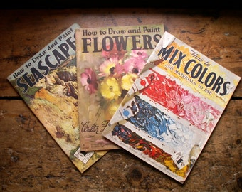 Vintage Instructional Painting Books by Walter Foster