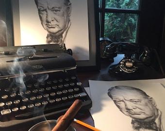Winston Churchill Print