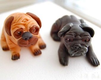 Pugs Cake Topper (100% Edible)