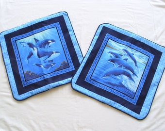 Dolphins & Whales Pillow Shams