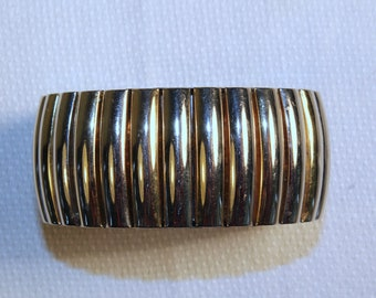 "Stretch bracelet in watchband style, 1 1/2"" wide"