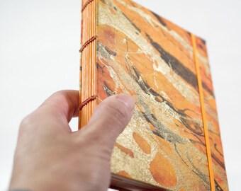 Coptic Stitch Book Thai Marbled Momi Paper