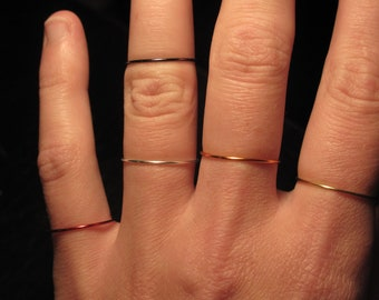 Wire Wrapped Single Band MADE to ORDER Knuckle or Regular Size Ring