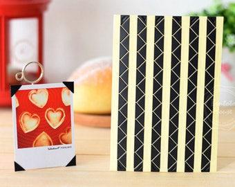 3 Sheets 306pcs,Black Photo Corners Stickers, Scrapbooking Embellishment, Journal Stickers, Photo Album, Diary Deco, Self-Adhesive