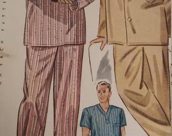Vintage Simplicity 2207 Sewing Pattern Size Medium Long and Short Pajamas