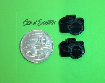 Laser Cut SLR Camera Acrylic small size for Earings, Jewellery or I Spy Bags