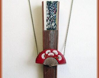 Cuelga-abanico, regalo para ella, cuelga-abanico hecho a mano, regalo complemento, cuelga-abanico pintado a mano, cuelga-abanico