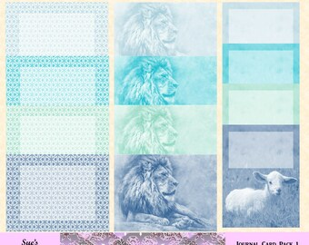 In Like a Lion, Out Like a Lamb journal card pack 1