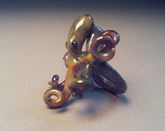 Octopus ring,octopus,blownglass,glass octopus,glass ring