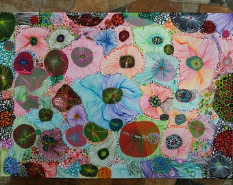 """Decorative painting, intuitive art, abstract painting, abstract painting, Titulada""""Mar of Colors"""""""