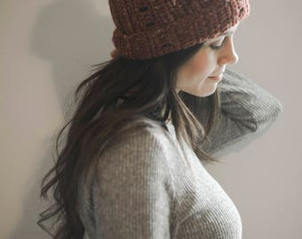 PDF Crochet Pattern for a Super Simple and Slouchy Textured Beanie