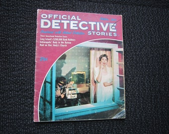 Official Detective Stories October 1954 - 200,000 bank robbery
