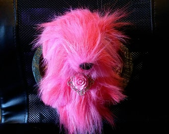 Pink dog taxidermy