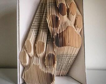 Folded book paw prints