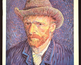 Van Gogh Wall Art Van Gogh Print Decor Self Portrait Artwork