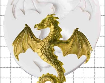 Dragon silicone mold - 'Flying Dragon' by FPC Sugarcraft | resin mold, fimo mold, polymer clay mold, soapmaking mold C221