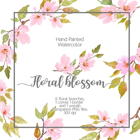 Watercolor floral clipart cherry blossom watercolor light pink watercolor floral clipart cherry blossom watercolor light pink flowers watercolor spring flowers watercolor flower clipart border from artdownload on mightylinksfo Image collections