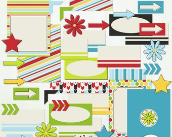 Outside Clipart - Journal Cards Labels -  Scrapbooking Clip Art Clipart - G7772