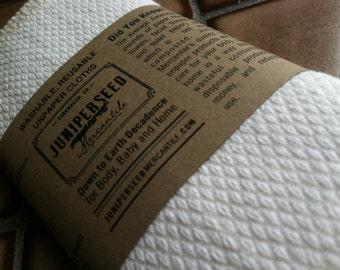 Unbleached Organic Cotton Birdseye Unpaper Towels - You Pick Size & Quantity