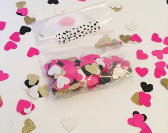 Heart Confetti | Bridal Shower Decorations | Bridal Shower Confetti | Bachelorette Party Decorations | Confetti