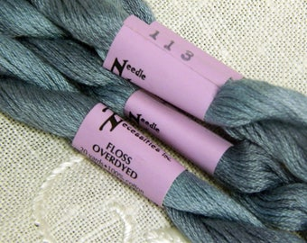 Needle Necessities - Overdyed Floss - 100% Cotton - Twenty Yards - Color 113 - Tapestry Blue - By the Skein