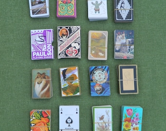Bulk Lot of 16 Vintage Decks Playing Cards - Lot A