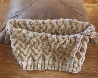 Up And Down Knit Cowl