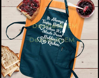 Bubbie's Kitchen SVG It always tastes better when it's made from Bubbie's kitchen Bubbie SVG Jewish Grandmother Passover Gifts Jewish Gifts