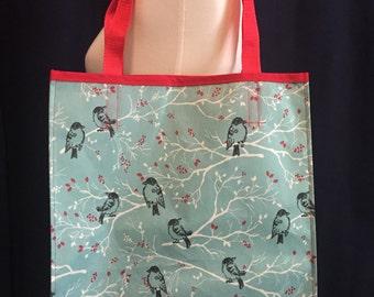 Reusable Shopping Bag / Grocery Bag / Shopping Bag / Reusable Tote / Bird Tote Bag / Reusable Grocery Bag / birdie bag