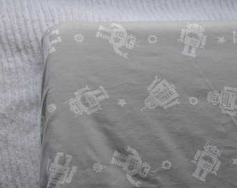 Grey Robot Changing Pad Cover