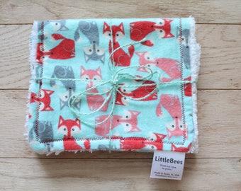 Burpee | Burp cloth | Chenille | Wash cloth | Fox | Neutral | Red fox